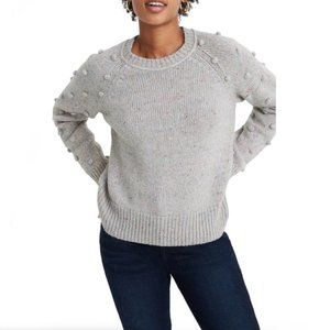 Madewell Crew Neck Janey Bobble Knit Sweater